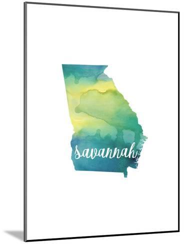GA Savannah-Paperfinch-Mounted Art Print