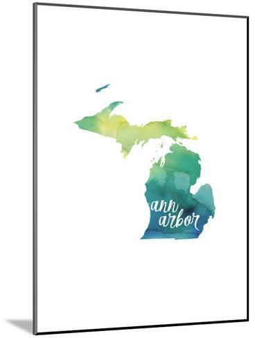 MI Ann Arbor-Paperfinch-Mounted Art Print