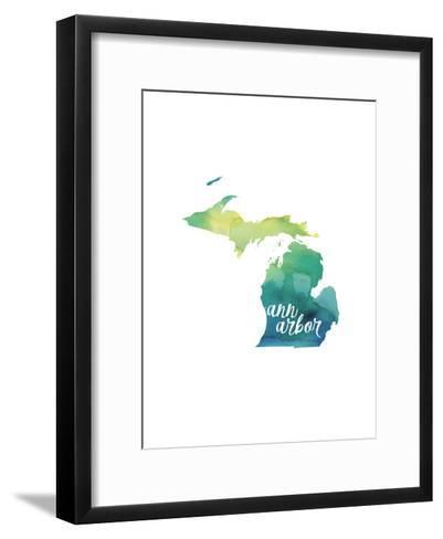 MI Ann Arbor-Paperfinch-Framed Art Print