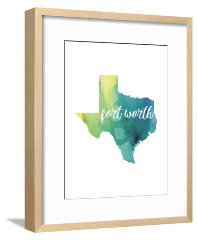 TX Fort Worth-Paperfinch-Framed Art Print