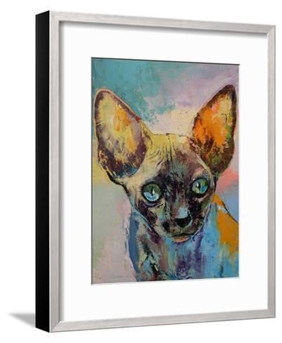 Sphynx Cat Portrait-Michael Creese-Framed Art Print