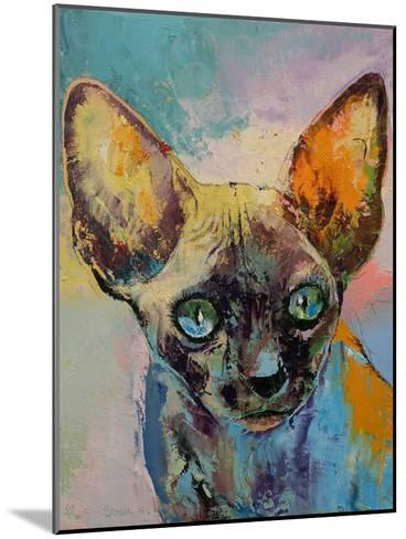 Sphynx Cat Portrait-Michael Creese-Mounted Art Print