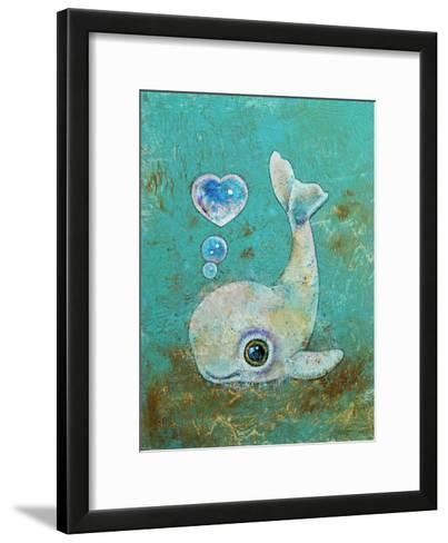 Baby Whale-Michael Creese-Framed Art Print