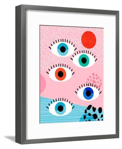 Noob-Wacka Designs-Framed Art Print