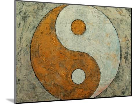 Gold Yin And Yang-Michael Creese-Mounted Art Print