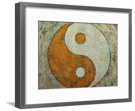 Gold Yin And Yang-Michael Creese-Framed Art Print