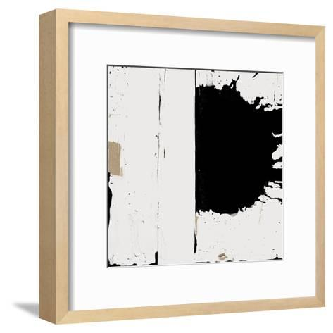 Black And White Abstract 3-Kasi Minami-Framed Art Print