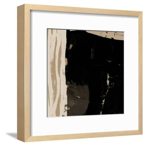 Black And Taupe Abstract 2-Kasi Minami-Framed Art Print