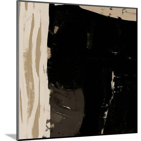 Black And Taupe Abstract 2-Kasi Minami-Mounted Art Print