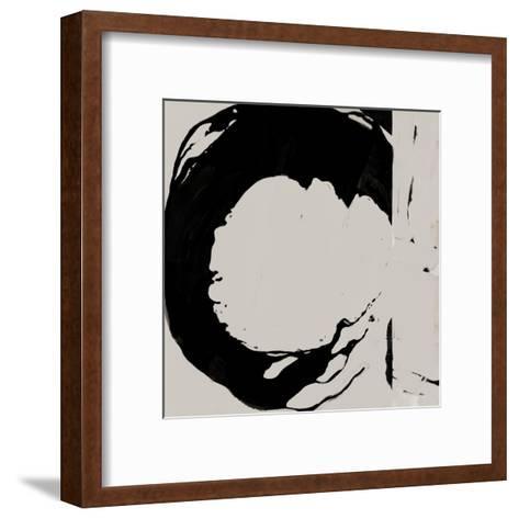 Black And Taupe Abstract 4-Kasi Minami-Framed Art Print