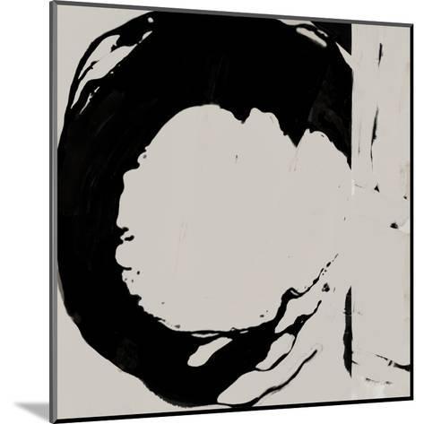 Black And Taupe Abstract 4-Kasi Minami-Mounted Art Print