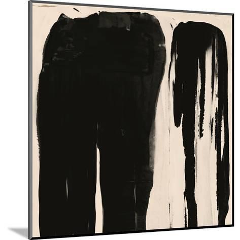 Black And Taupe Abstract 5-Kasi Minami-Mounted Art Print
