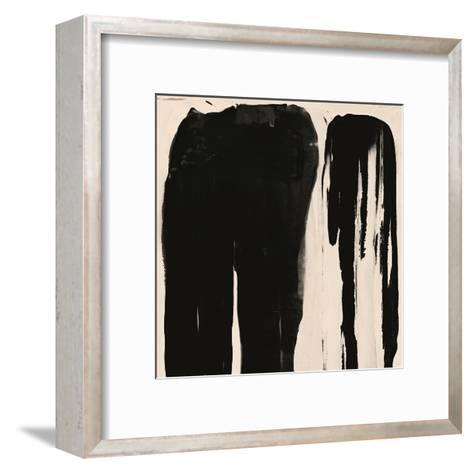 Black And Taupe Abstract 5-Kasi Minami-Framed Art Print