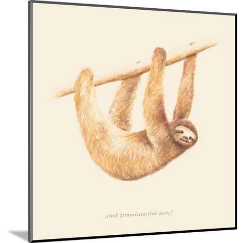 Css Animals Sloth-Florent Bodart-Mounted Art Print