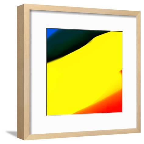 Blue Yellow And Red Abstract-Kasi Minami-Framed Art Print