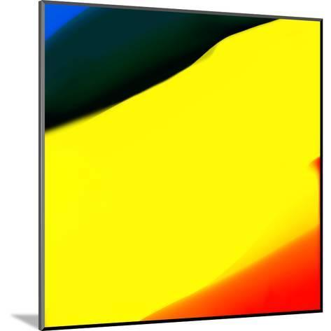 Blue Yellow And Red Abstract-Kasi Minami-Mounted Art Print