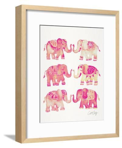 Elephant Collection Pink-Cat Coquillette-Framed Art Print