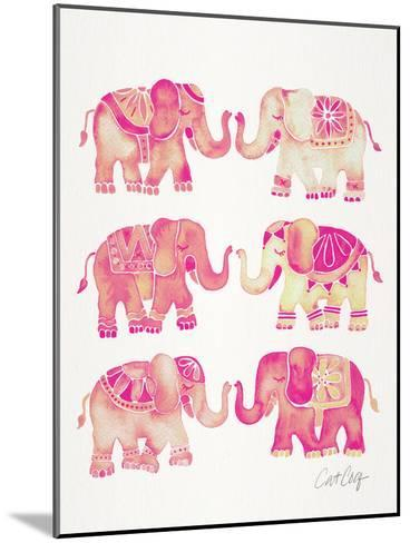 Elephant Collection Pink-Cat Coquillette-Mounted Art Print