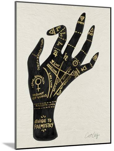 Palmistry Black And Gold-Cat Coquillette-Mounted Art Print
