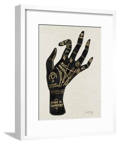 Palmistry Black And Gold-Cat Coquillette-Framed Art Print