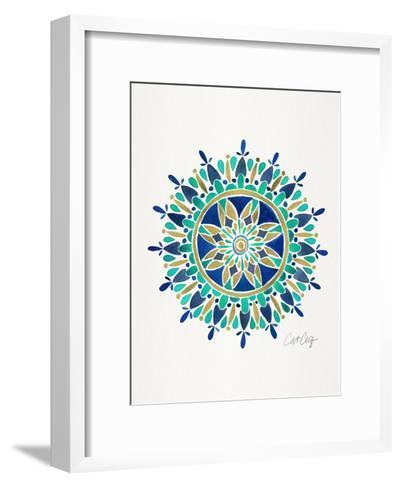 Mandala-Cat Coquillette-Framed Art Print