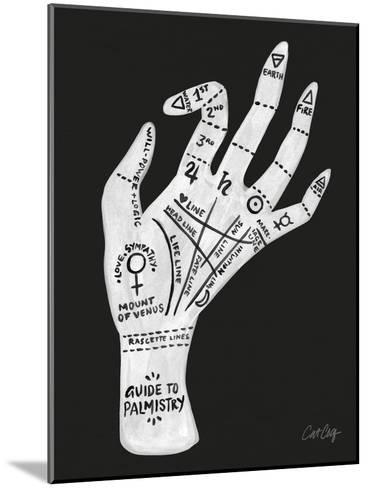 Palmistry Black And White-Cat Coquillette-Mounted Art Print