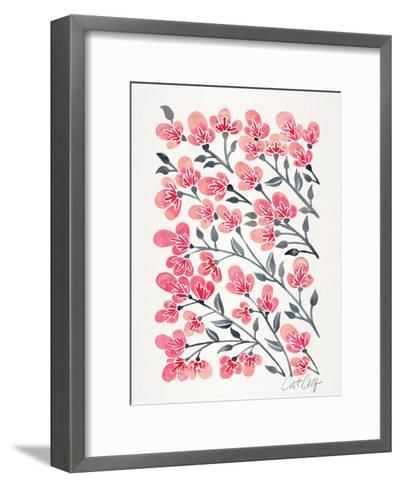 Cherry Blossoms-Cat Coquillette-Framed Art Print