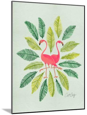 Flamingos-Cat Coquillette-Mounted Art Print