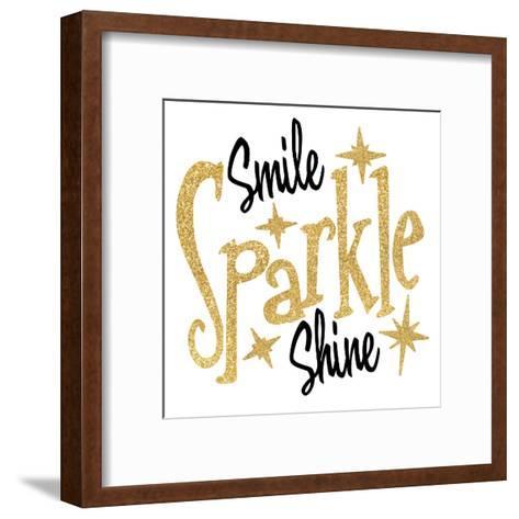 Smile Sparkle Shine-Wonderful Dream-Framed Art Print