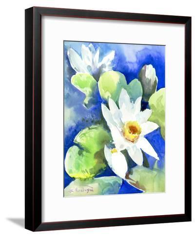 Lotuses 2-Suren Nersisyan-Framed Art Print