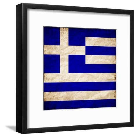 Greece Flag-Wonderful Dream-Framed Art Print