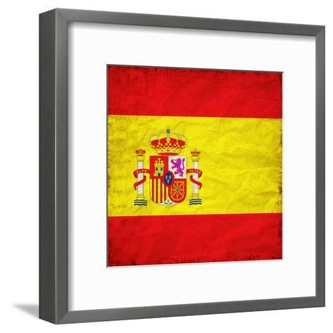 Spain Flag-Wonderful Dream-Framed Art Print