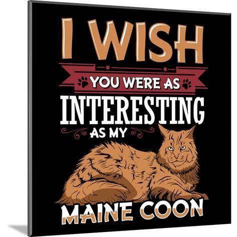 Maine Coon Cat-Wonderful Dream-Mounted Art Print