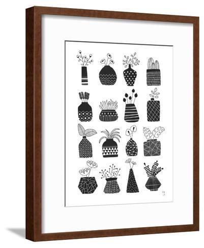 Ornamental Vases Monochrome-Tracie Andrews-Framed Art Print
