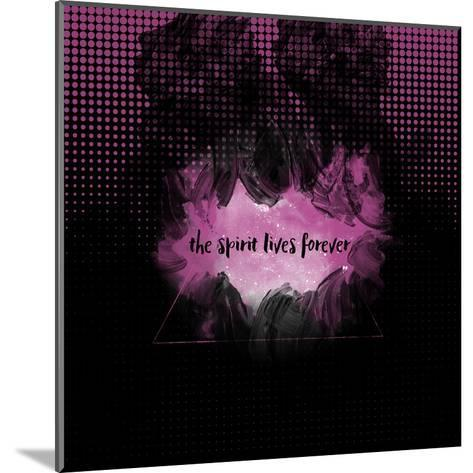 The Spirit Lives Forever Black Pink-Melanie Viola-Mounted Art Print