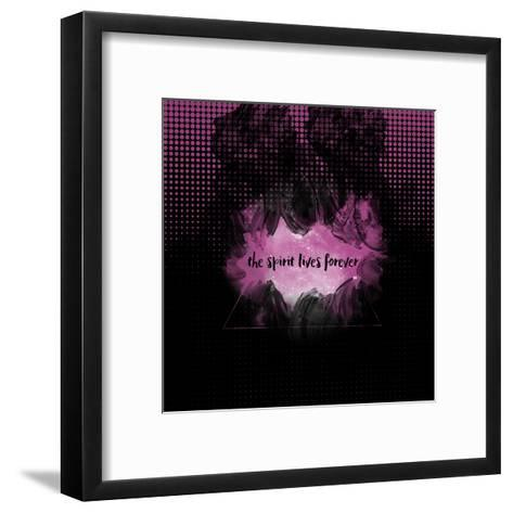 The Spirit Lives Forever Black Pink-Melanie Viola-Framed Art Print