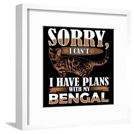 Bengal Cat-Wonderful Dream-Framed Art Print