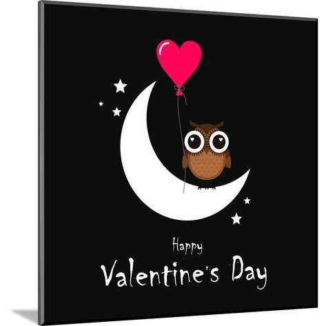 Owl Valentine Day-Wonderful Dream-Mounted Art Print