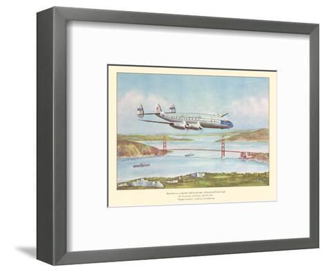 First Commercial Round-the-World Flight - Pan American World Airways - Lockheed Constellation-John T^ McCoy-Framed Art Print