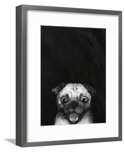 Snuggle Pug-Laura Graves-Framed Art Print