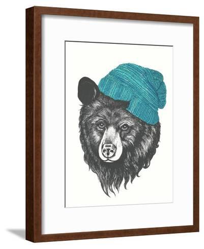 Zissou The Bear Blue-Laura Graves-Framed Art Print