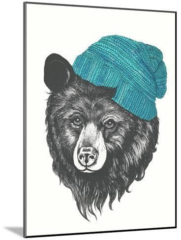 Zissou The Bear Blue-Laura Graves-Mounted Art Print