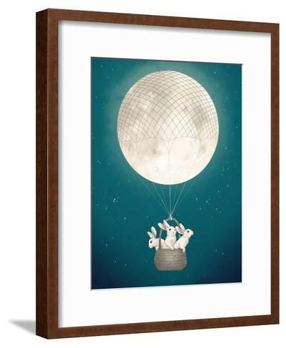 Moon Bunnies-Laura Graves-Framed Art Print