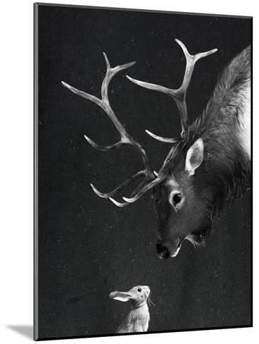 Elk&Rabbit-Laura Graves-Mounted Art Print