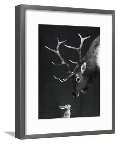 Elk&Rabbit-Laura Graves-Framed Art Print