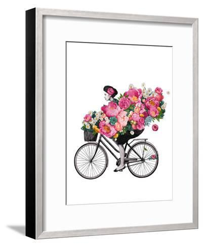 Floral Bicycle-Laura Graves-Framed Art Print