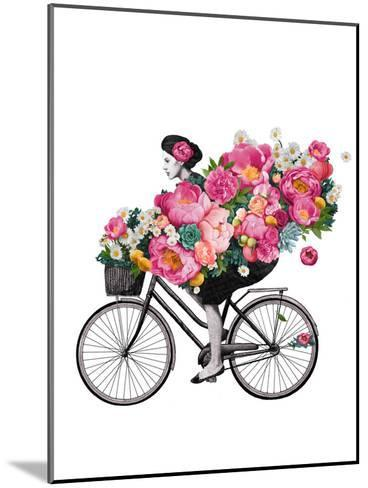 Floral Bicycle-Laura Graves-Mounted Art Print