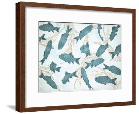 Blue Fish-Tracie Andrews-Framed Art Print