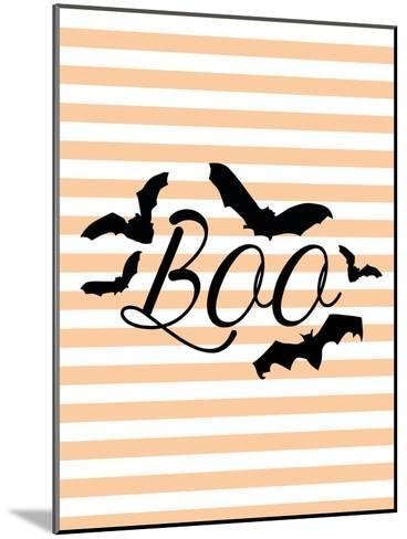 Boo With Bats-Jetty Printables-Mounted Art Print