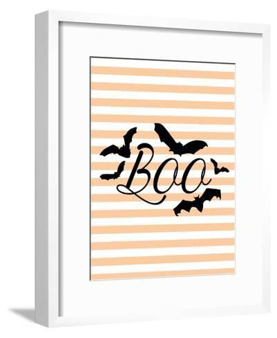 Boo With Bats-Jetty Printables-Framed Art Print